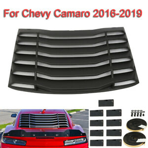 Rear Window Windshield Louvers Cover Sun Shade For 2016 2019 Chevy Camaro Abs