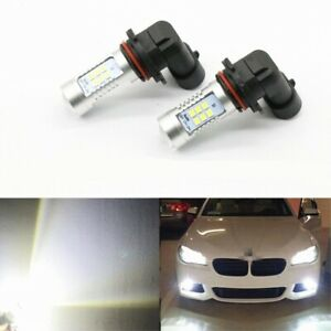 Pair 100w Led Fog Lights Bulb For Jeep Liberty 2002 2013 6000k White Lamp
