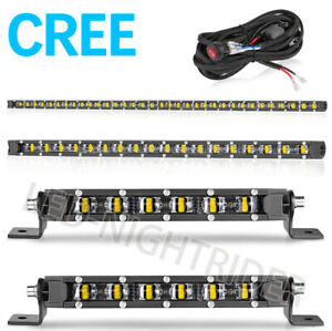 8 22 42 Single Row Cree Led Work Light Bar Super Slim Combo Driving Off Road