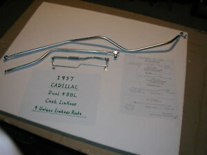 1957 Cadillac Dual Quad 4bbl Carb Linkage 4pc Year Guarantee