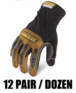 dozen 12 pair Ironclad Rwg2 Ranchworx Leather Work Gloves Select Size