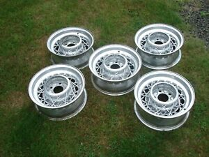 Set Of 5 Cadillac Kelsey Hayes Wire Wheels