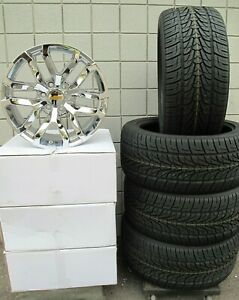 20 2019 Chevy Silverado Suburban Oe Style Chrome New Set 4 Wheels Tires 196c G