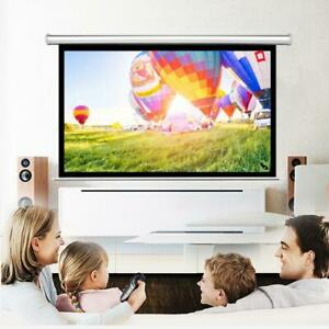 Leadzm 84 16 9 Projector Screen Manual Pull Down Ceiling Wall Mountable