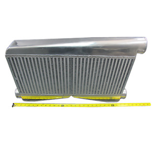 Universal 25 5x16x3 5 Twin Turbo Intercooler 2 5 Inlet 3 Outlet