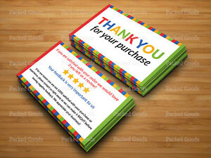 100 1000 Ebay Seller Thank You Ebay Business Cards Double Sided Color Uv 3