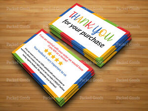 100 1000 Ebay Seller Thank You Ebay Business Cards Double Sided Color Uv 2