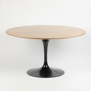 2000 S Eero Saarinen For Knoll Studio 54 Inch Tulip Dining Table Walnut Black