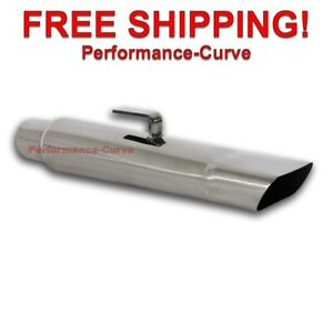 Stainless Steel Exhaust Tip Mopar Rectangle Slant 2 25 In 3 75 X 1 75