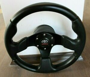 Steering Wheel Toyota Celica Supra Mr2 Corolla Hiace Leather Sport Racing 320mm