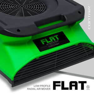 Contair Flat Low Profile Slim Radial Air Mover Carpet Blower Fan In Green