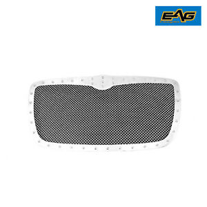 Eag Rivet Chrome Steel Mesh Grill Replacement W Shell Fits 05 10 Chrysler 300c