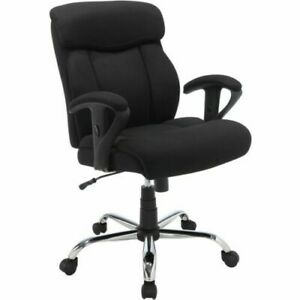 Black Mesh Fabric Big And Tall Manager Chair Serta Office Furniture brand New