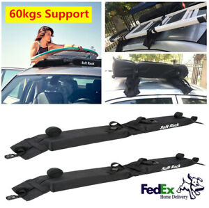 2xcar Cargo Roof Top Carrier Rack Luggage With Storage Bag Load Bearing 60kg