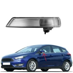 For Ford Focus 08 16 Right Wing Mirror Indicator Turn Signal Light Len Cover Kit