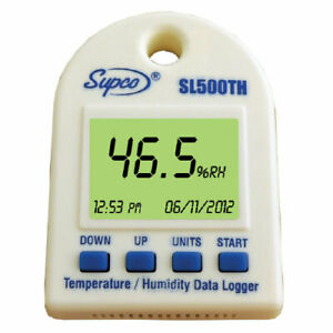 Supco Sl500th Temperature Humidity Data Logger W Internal Sensors Software