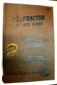 D2 Tractor 50 Inch Gauge Caterpillar Parts Catalog 5j3501 To 5j10561 Inclusive