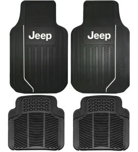 New Jeep Elite Front Rear Back Car Truck Suv All Weather Rubber Floor Mats
