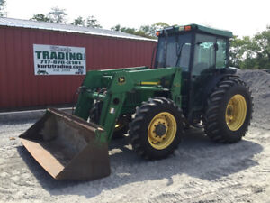 2002 John Deere 5510 4x4 Utility Tractor W Cab Loader Only 4200 Hours