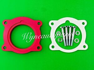 Red Throttle Body Spacer Thermal Gasket Fit 08 09 Saturn Outlook Vue Suzuki