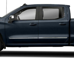 Body Side Molding For 2019 2020 Silverado 1500 Crew Cab 1 1 2 Stainless Set 4