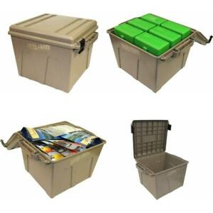 Military Ammo Crate Utility Box Plastic Ammunition Storage Case 90 LBS Stackable