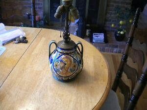 Antique Italian Figural Military Soldier Porcelain Lamp Base