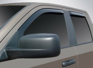 In Channel Wind Deflectors 2002 2008 Dodge Ram 1500 Quad Cab