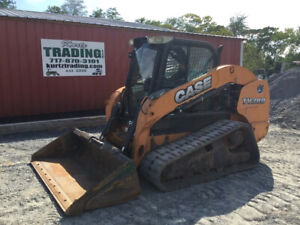 2012 Case Tv380 Compact Track Skid Steer Loader W Cab Joystick 2spd