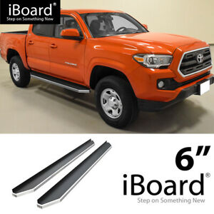 Iboard Polished Running Boards Style Fit 05 20 Toyota Tacoma Double Cab Crew Cab