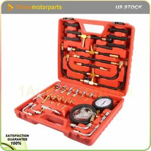 New Manometer Fuel Injection Pressure Tester Gauge Kit System 0 140 Psi With Box