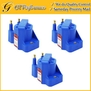 Performance Ignition Coil 3pcs For Buick Cadillac Chevrolet Isuzu Pontiac Blue