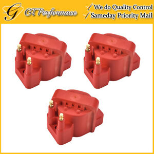 Performance Ignition Coil 3pcs For Buick Cadillac Chevrolet Isuzu Pontiac Red