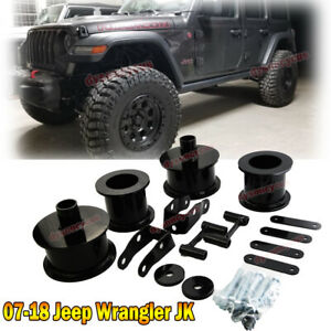 Fit 07 18 Jeep Wrangler Jk 3 Full Front Rear Lift Level Kit W Shock Extenders