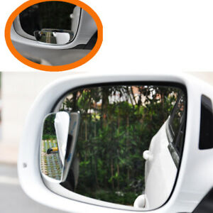 2pcs Universal Auto Car 360 Wide Angle Convex Rear Side View Blind Spot Mirror