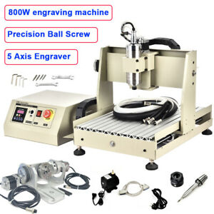 Usa 5 Axis 3040 Cnc Router 3d Engraver Metal Engraving Milling Machine 800w Vfd