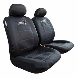 Canvas Car Seat Cover Cool Black Waterproof Durable For Toyota Tacoma 1999 2019