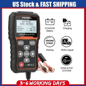 Foxwell Bt705 Car Battery Load Tester Charging System Analyzer 100 2000 Cca