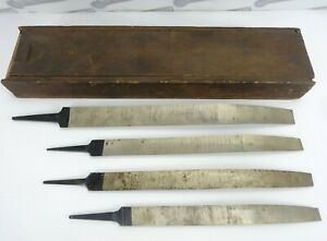 Vintage Mound Tool Co Hollow Ground Scrapers W Box lot Of 4