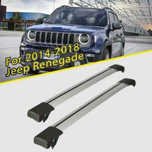 Car Top Roof Rack Cross Bar Cargo Carrier Anti theft For 2014 2018 Jeep Renegade