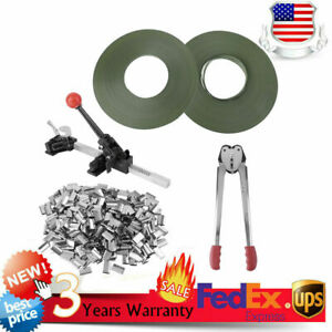 Strapping Tool Complete Kit metal Seals poly Strap Banding Roll Supply Set To