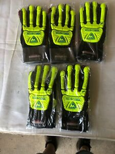 5 Pair Xl Westchester R2 Rig Cat 5 Cut Resistant Silicone Palm Rigging Gloves
