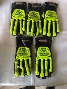 5 Pair L Westchester R2 Rig Cat 5 Cut Resistant Silicone Palm Rigging Gloves