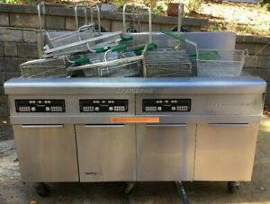 Frymaster 3 Wells Electric Fryers With Filtration Unit