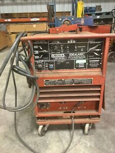Lincoln Tig 250 250 Arc Welder Idealarc W cart 9679