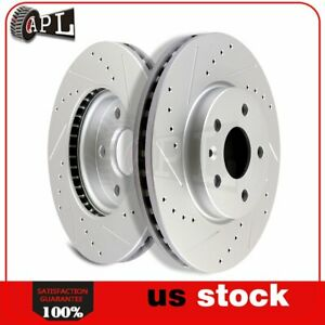 Front Brake Disc Rotors For 2011 2012 2013 2014 2015 Chevrolet Cruze Drill Slot