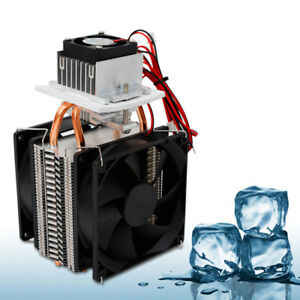 Semiconductor Refrigeration Thermoelectric Peltier Cold Plate Cooler With Fan