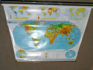 4 Layer Nystrom Pull Down Map Used Classroom Nystrom Paper Globe Us