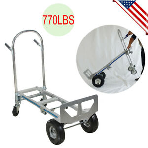 51 Hand Truck T5 Aluminum Alloy A3 Steel Heavy Duty Up To 770lbs Moving Us Ship