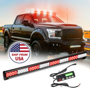 36 Led Warning Emergency Traffic Advisor Truck Strobe Light Bar white